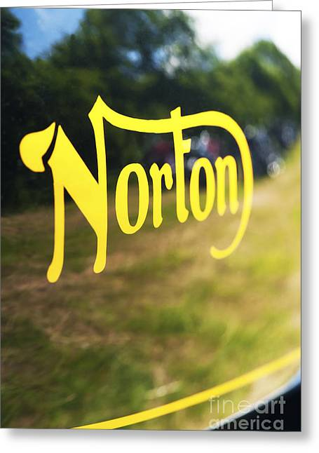 Abstract Reflections Greeting Cards - Norton Commando Abstract Greeting Card by Tim Gainey
