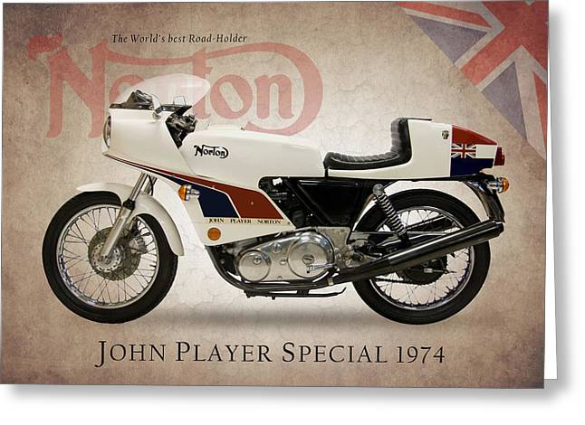 Motorcycles Greeting Cards - Norton John Player Special Greeting Card by Mark Rogan