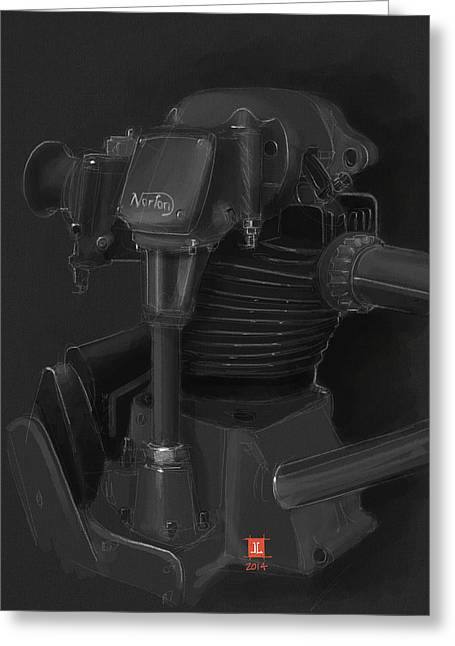 Norton Motor Greeting Card by Jeremy Lacy