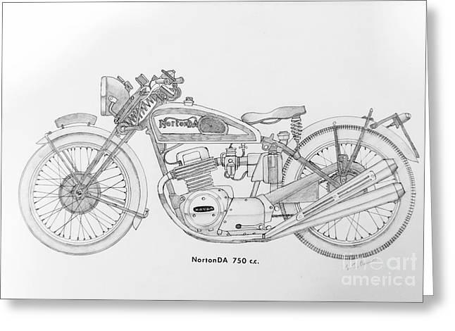 Nortonda 750 C.c. Greeting Card by Stephen Brooks