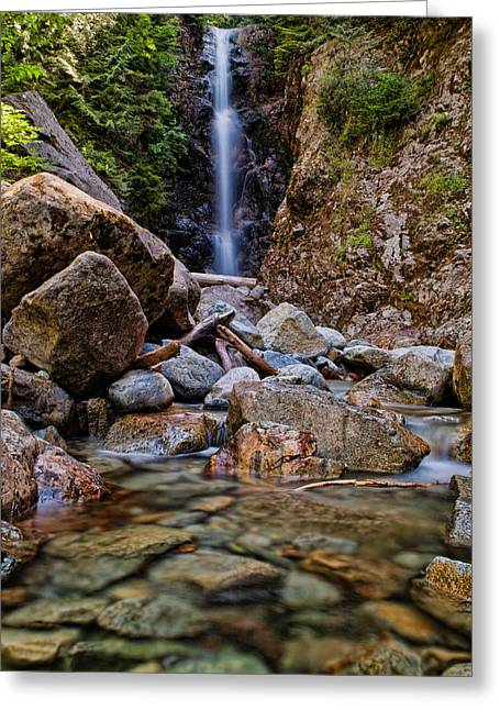 Beautiful Creek Greeting Cards - Norvan Falls Greeting Card by James Wheeler