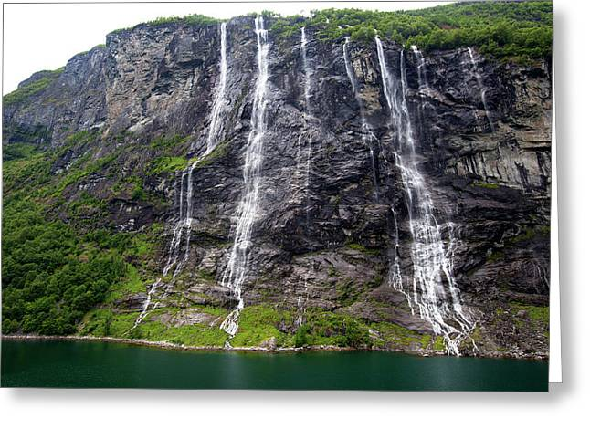 Norway, Geiranger Greeting Card by Kymri Wilt