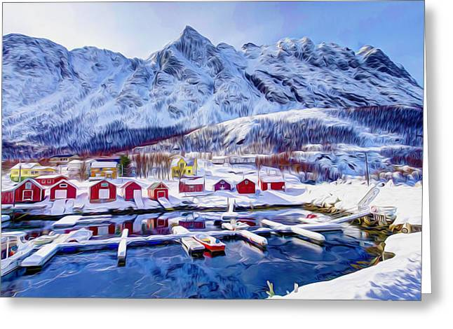Grass Greeting Cards - Norway in winter 1 Greeting Card by Lanjee Chee