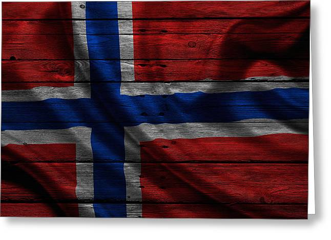 Continent Greeting Cards - Norway Greeting Card by Joe Hamilton
