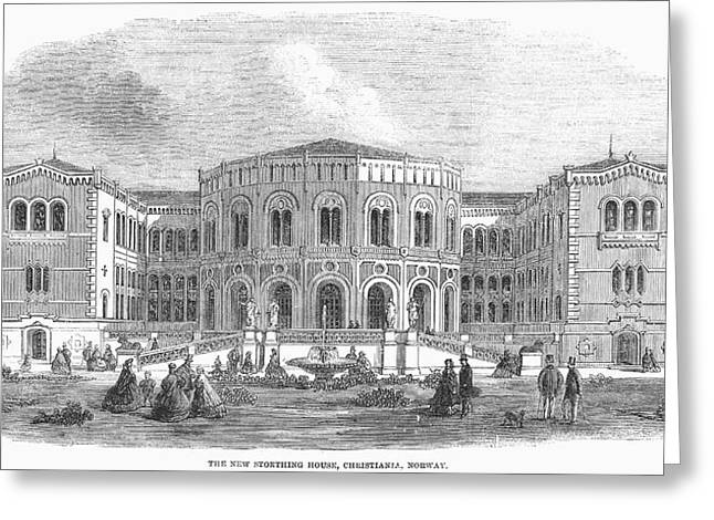 Norway Parliament, 1861 Greeting Card by Granger