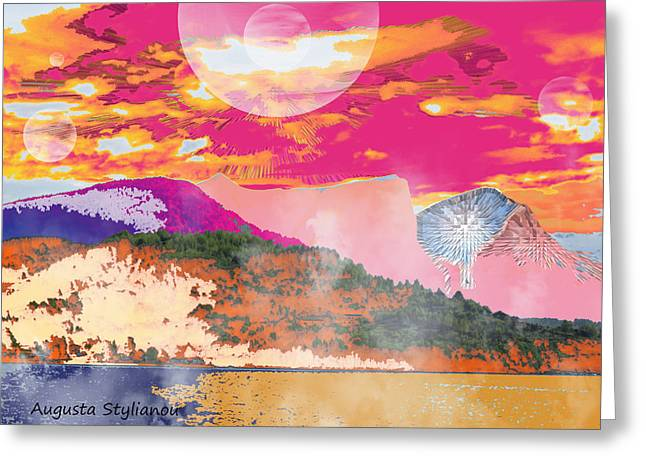 Norway Space Landscape Greeting Card by Augusta Stylianou