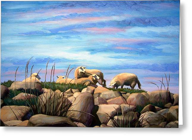 Farsund Greeting Cards - Norwegian Sheep Greeting Card by Janet King