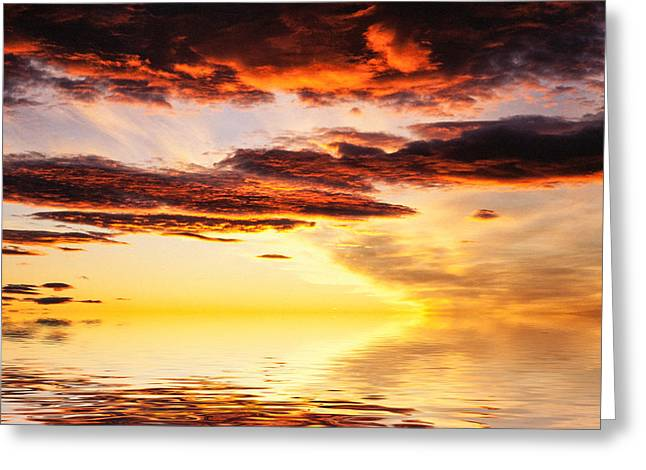 Lightscapes Greeting Cards - Norwegian Sunset Greeting Card by Hakon Soreide