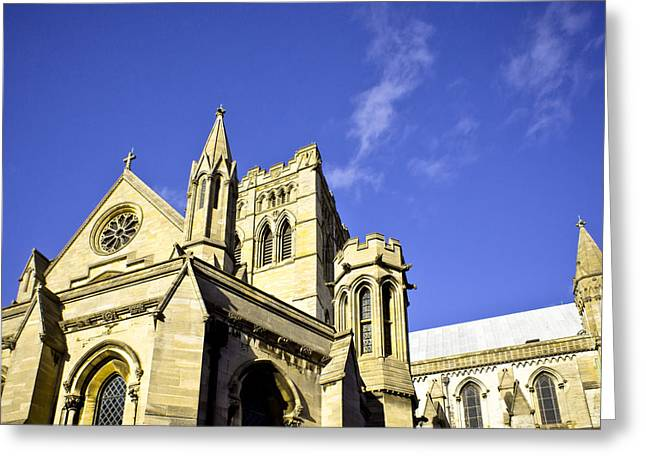 Height Greeting Cards - Norwich Cathedral Greeting Card by Tom Gowanlock