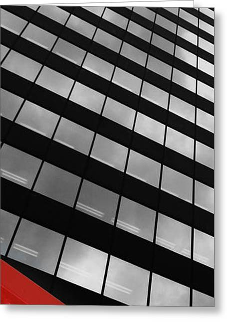 Red Abstracts Greeting Cards - Nose Bleed Greeting Card by Jerry Cordeiro