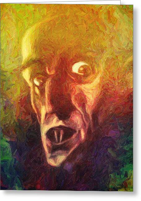 Carpathian Mountains Greeting Cards - Nosferatu Greeting Card by Taylan Soyturk