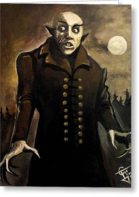 Nosferatu Greeting Card by Tom Carlton