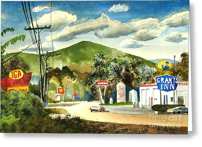 Storybook Greeting Cards - Nostalgia Arcadia Valley 1985  Greeting Card by Kip DeVore