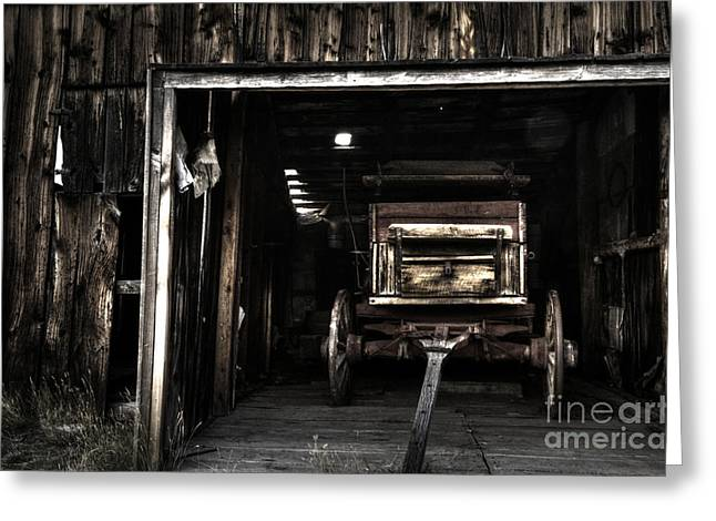 The Western Hotel Greeting Cards - Nostalgia At Bannack Montana Greeting Card by Bob Christopher