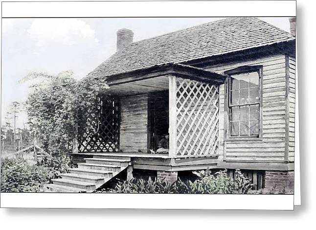 Old Home Place Digital Greeting Cards - Nostalgia at Home Greeting Card by Susan Leggett