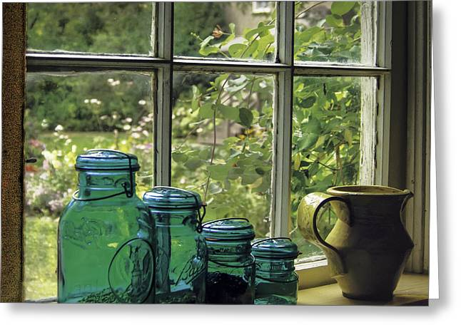 Pottery Pitcher Greeting Cards - Nostalgia Greeting Card by Curtis Dale