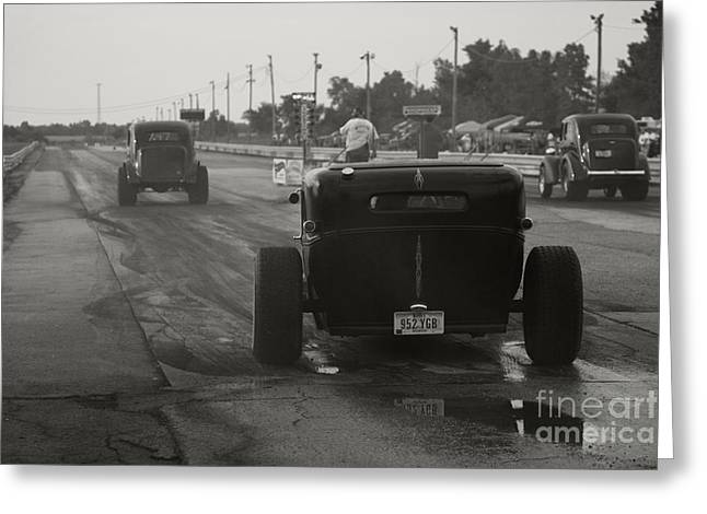Drag-race Greeting Cards - Nostalgia Drags Greeting Card by Dennis Hedberg