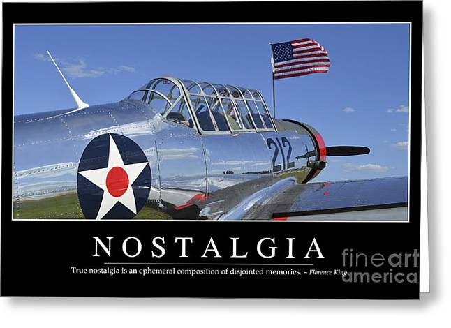Vultee Bt-13 Valiant Greeting Cards - Nostalgia Inspirational Quote Greeting Card by Stocktrek Images