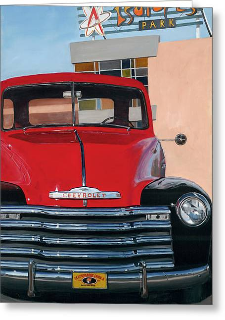 Classic Pickup Paintings Greeting Cards - Nostalgia Greeting Card by Jack Atkins