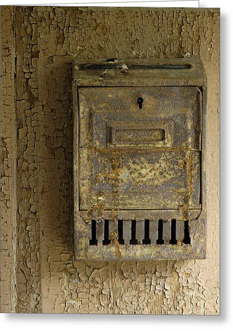 Postbox Greeting Cards - Nostalgia - old and rusty mailbox Greeting Card by Matthias Hauser