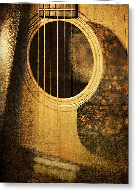 Strumming Greeting Cards - Nostalgic Tones Greeting Card by Scott Norris