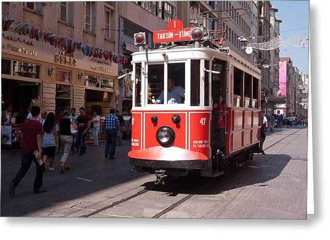 Nostalgic Tram 02 Greeting Card by Rick Piper Photography