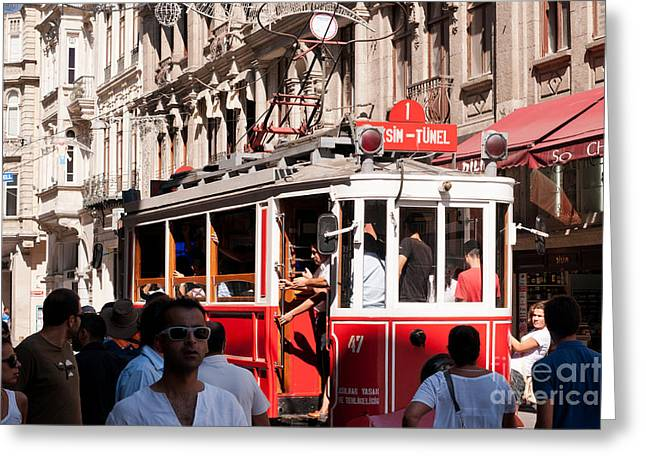 Nostalgic Tram 03 Greeting Card by Rick Piper Photography