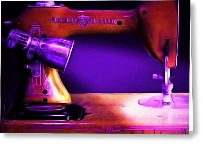 Fashionista Greeting Cards - Nostalgic Vintage Sewing Machine 20150225m118 square Greeting Card by Wingsdomain Art and Photography