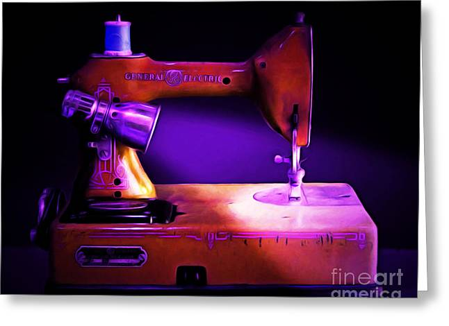 Fashionista Greeting Cards - Nostalgic Vintage Sewing Machine 20150225m118 Greeting Card by Wingsdomain Art and Photography