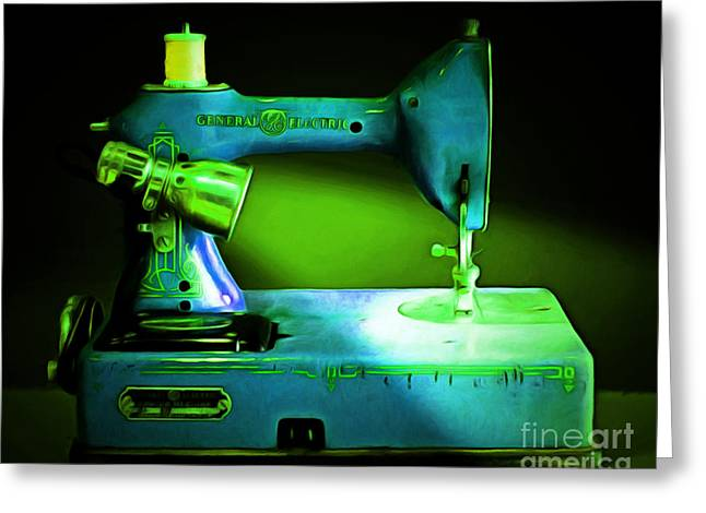 Fashionista Greeting Cards - Nostalgic Vintage Sewing Machine 20150225p68 Greeting Card by Wingsdomain Art and Photography