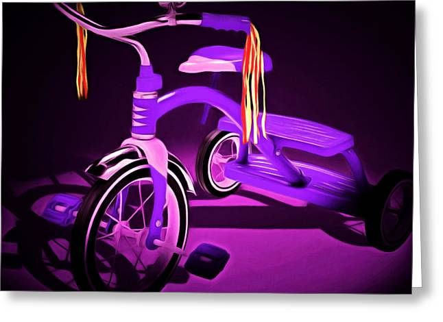 Flyer Digital Greeting Cards - Nostalgic Vintage Tricycle 20150225 square m88 Greeting Card by Wingsdomain Art and Photography