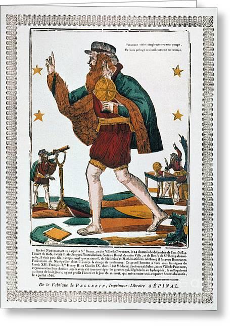 Nostradamus Greeting Cards - Nostradamus (1503-1566) Greeting Card by Granger