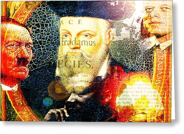 Nostradamus Greeting Cards - Nostradamus Greeting Card by GANECH Graphics