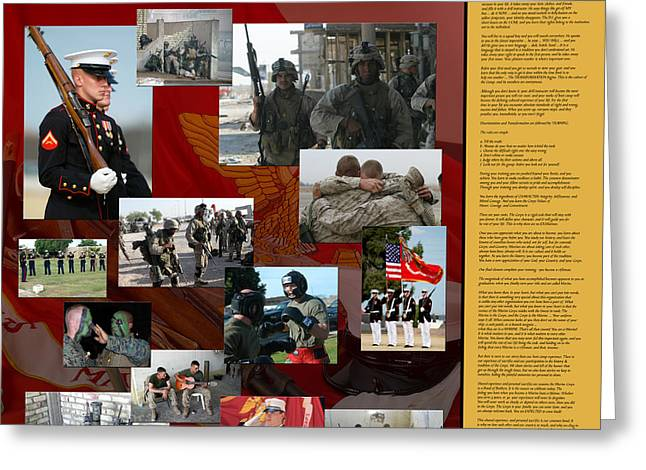 Marine Greeting Cards - Not an Army of One Greeting Card by Annette Redman
