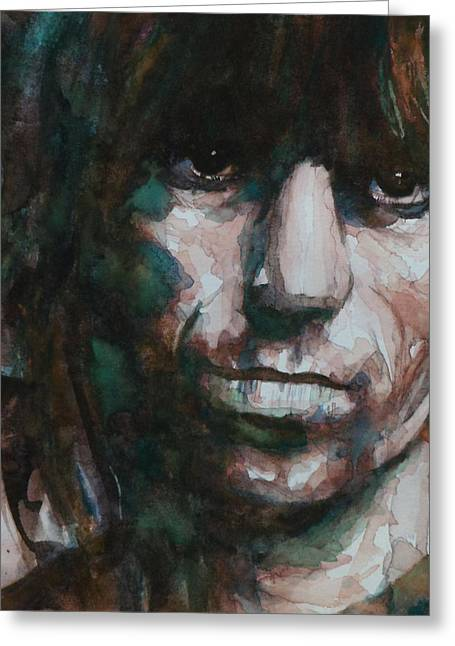 British Celebrities Greeting Cards - Not Fade Away Greeting Card by Paul Lovering