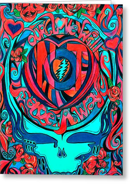 Hippie Greeting Cards - Not Fade Away TWO Greeting Card by Kevin J Cooper Artwork
