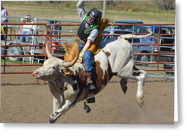 Not his first rodeo Greeting Card by Kris Wolf