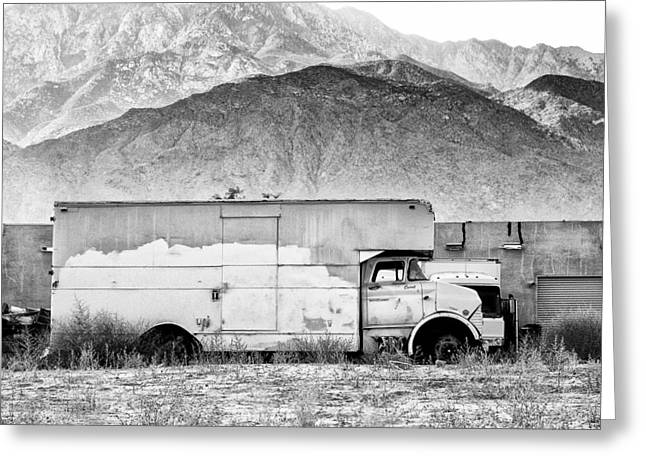 Not In Service Greeting Cards - NOT IN SERVICE BW Palm Springs Greeting Card by William Dey