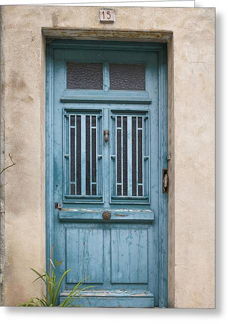 France Doors Greeting Cards - Not Just Another French Door Greeting Card by Nomad Art And  Design