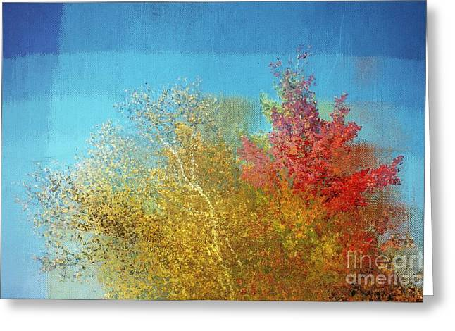 Cubist Greeting Cards - Not Only Some Other Autumn Trees - c02j01 Greeting Card by Variance Collections