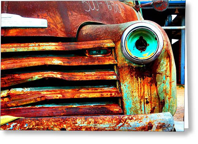Old Trucks Greeting Cards - Not Quite Road Ready Greeting Card by Toni Hopper