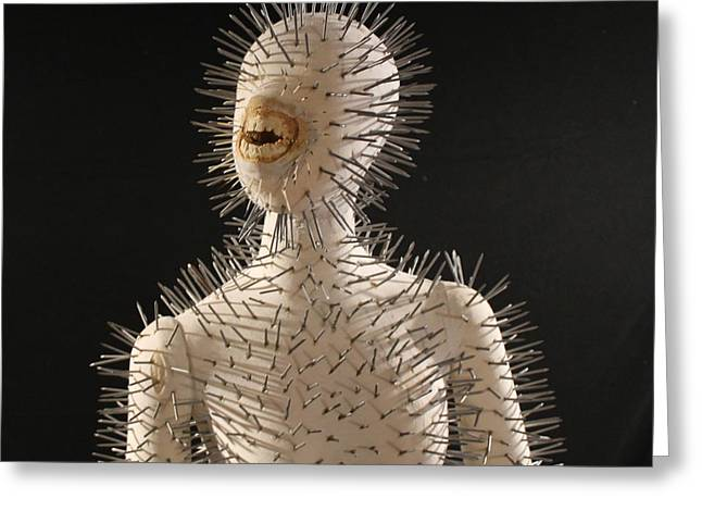 Hellraiser Greeting Cards - Not Ready for a Relationship Greeting Card by Toni Jo Coppa