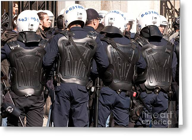 Police Officer Greeting Cards - Not The Ninja Turtles Greeting Card by Rick Piper Photography