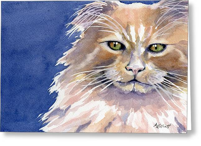 Cat Paw Greeting Cards - Not Too Happy Greeting Card by Marsha Elliott