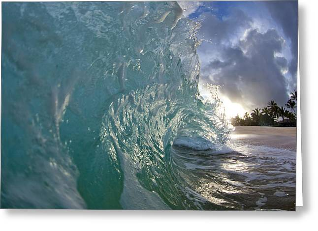 Sunrise. Water Greeting Cards - Magnificent Curl Greeting Card by Sean Davey