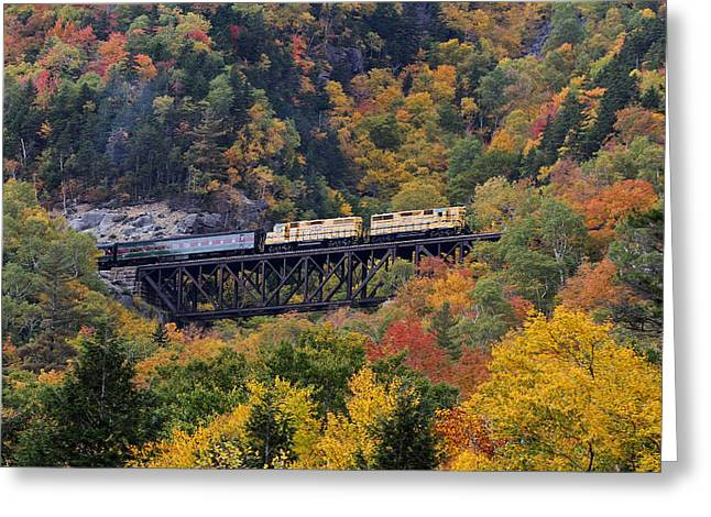 Notch Train At Conway Scenic Railroad Greeting Card by Juergen Roth