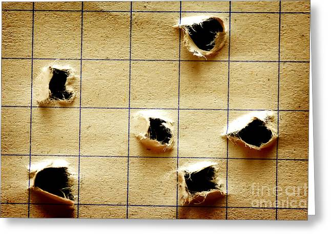 Notebook With Holes Greeting Card by Michal Bednarek