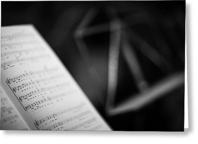 Music Stand Greeting Cards - Notes Greeting Card by Ralf Kaiser