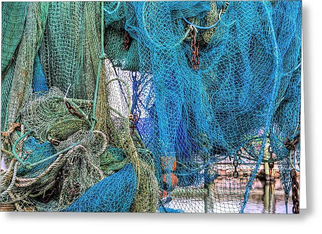 Commercial Fishing Greeting Cards - Nothing but Net Greeting Card by JC Findley