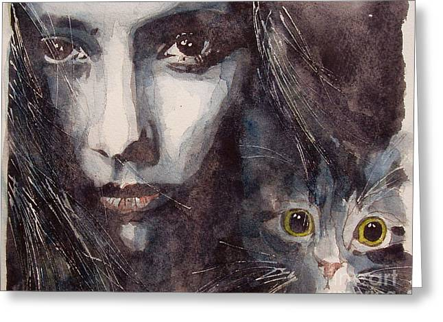 Cat Portraits Greeting Cards - Nothing Compares To You  Greeting Card by Paul Lovering